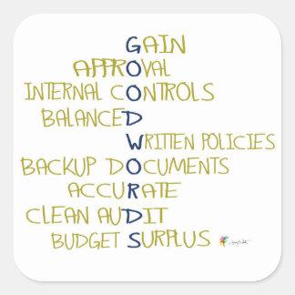 Palavras da etiqueta | da contabilidade boas