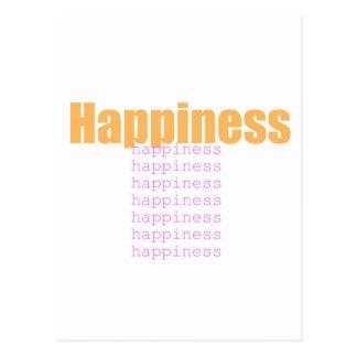 Palavras da felicidade cartão postal