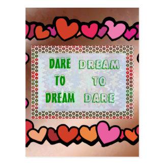Palavras da sabedoria Desafio ao SONHO - sonho A Cartões Postais