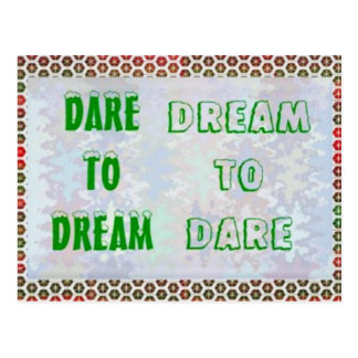 Palavras da sabedoria: Desafio ao SONHO - sonho A  Cartoes Postais