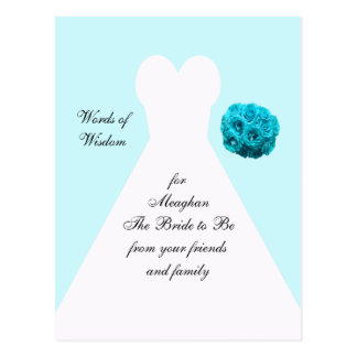 Palavras da sabedoria para cartão do casamento cartao postal