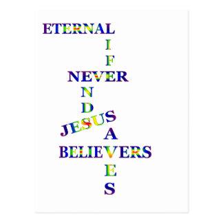 Palavras da vida eterna cartão postal