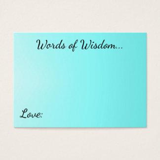 Palavras de cartões do Aqua da sabedoria