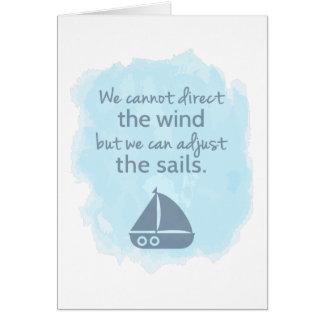 Palavras de citações náuticas do barco de vela da cartão comemorativo