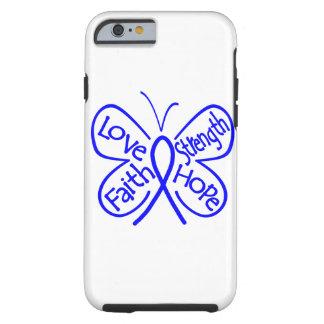 Palavras de inspiração da borboleta do cancro do capa tough para iPhone 6