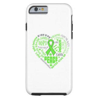 Palavras do coração da consciência da doença de capa para iPhone 6 tough