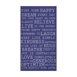 Palavras inspiradas dos pensamentos positivos