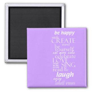 palavras inspiradas inspiradores ímã quadrado