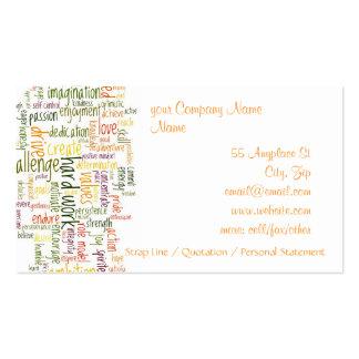 Palavras inspiradores #2 modelos cartões de visita