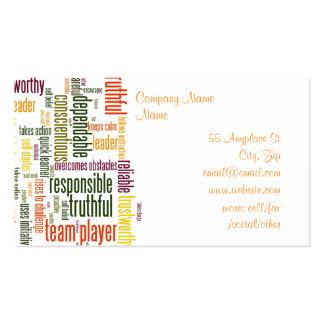 Palavras inspiradores #4 cartoes de visita