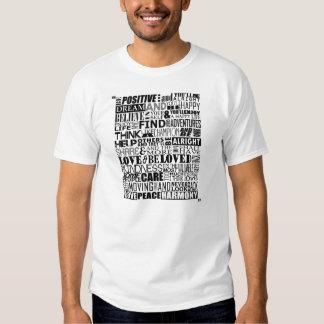 Palavras inspiradores aleatórias t-shirt