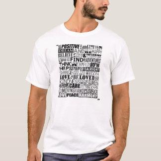 Palavras inspiradores aleatórias tshirt