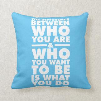 Palavras inspiradores travesseiros de decoração