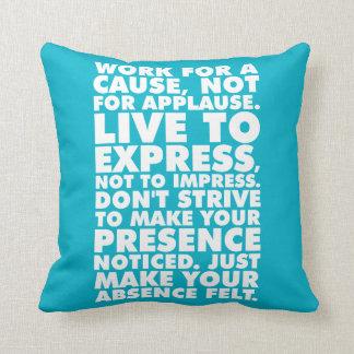 Palavras inspiradores travesseiro de decoração