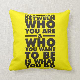Palavras inspiradores travesseiro