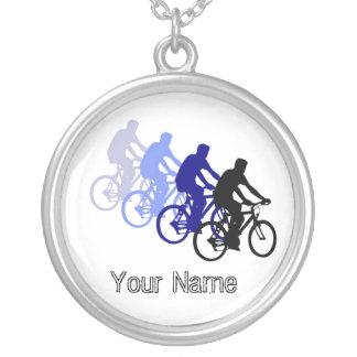 Palavras inspiradores, Biking, dando um ciclo, bic Colar Com Pendente Redondo