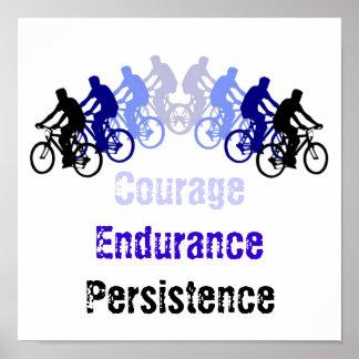 Palavras inspiradores, Biking, dando um ciclo, bic Poster