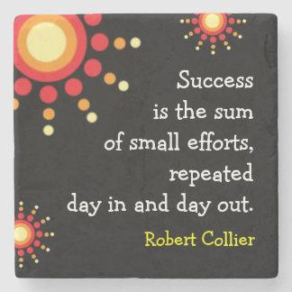 Palavras inspiradores da cotação do sucesso porta copos de pedra