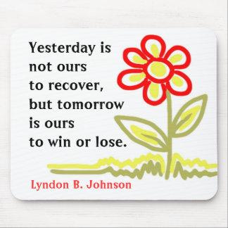 Palavras inspiradores da sabedoria Mousepad