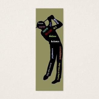 Palavras inspiradores do golfe, marcador do cartão de visitas mini