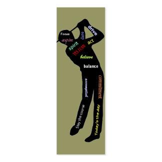 Palavras inspiradores do golfe, marcador do esport modelo cartões de visita