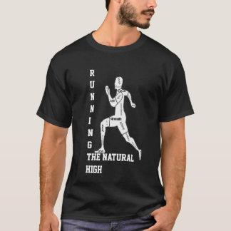Palavras inspiradores, funcionando - a elevação camiseta