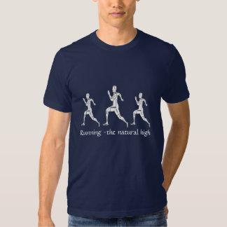 Palavras inspiradores, funcionando - a elevação t-shirt