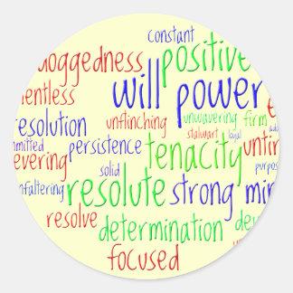 Palavras inspiradores por o ano novo, atitude adesivo
