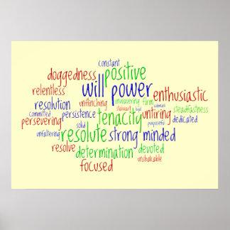 Palavras inspiradores por o ano novo atitude posi posters