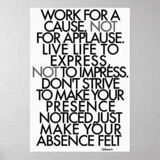 Palavras inspiradores poster
