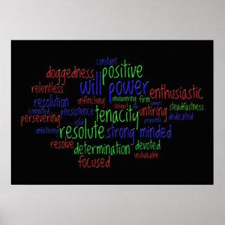 Palavras inspiradores que incentivam uma atitude p posters