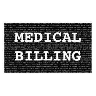 Palavras médicas do faturamento médico cartão de visita