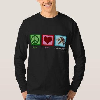 Paleontologia do amor da paz tshirt
