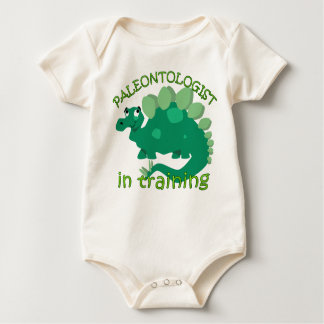 Paleontologist na camisa do bebê do treinamento macacãozinho para bebê