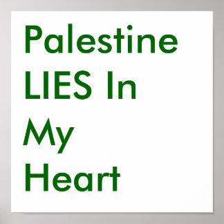 Palestina ENCONTRA-SE em meu coração Poster