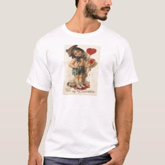 Paleta da escova do pintor do coração da pintura tshirts