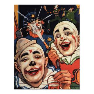 Palhaços de circo do vintage, cómico engraçado