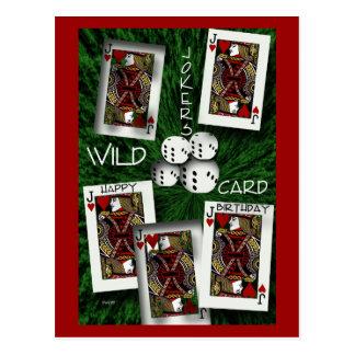 Palhaços selvagens cartão postal