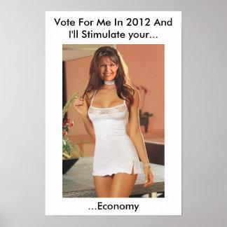 Palin engraçado camisas de 2012 T (anti Obama) Posteres
