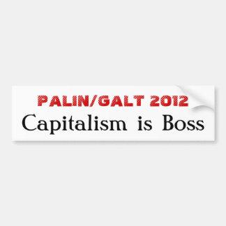 PALIN/GALT 2012, capitalismo é chefe Adesivo Para Carro