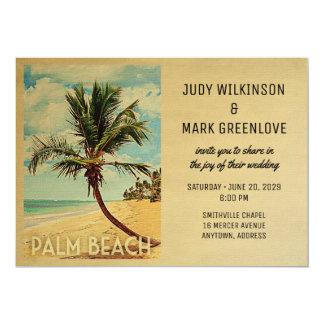 Palm Beach que Wedding a palmeira da praia do Convite 12.7 X 17.78cm