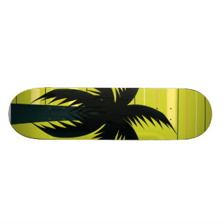 Palmeira com listras shape de skate 20,6cm