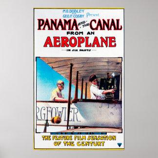 Panamá e o cargo do Promo do filme do avião do can Poster