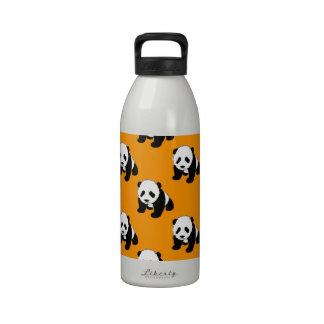 Panda bonito Laranja de néon preto branco