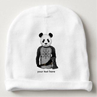 Panda com um martelo da guerra de Viking Gorro Para Bebê