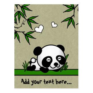Panda confiante cartão postal