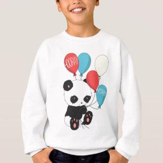 Panda do aniversário com balões tshirts
