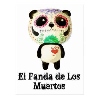 Panda do dia do morto cartão postal