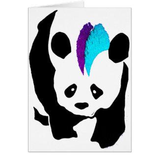 Panda do Mohawk Cartão Comemorativo