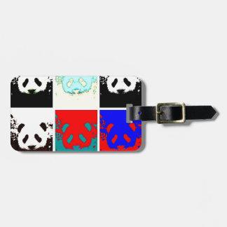 Panda do pop art etiqueta de bagagem
